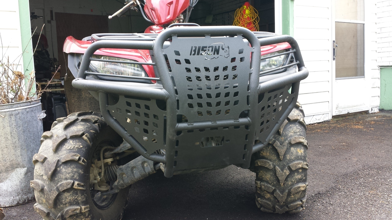Suzuki King Quad 450 500 700 750 (2005-2019) Quad ATV Bison Front Bumper  Brush Guard Hunter Series
